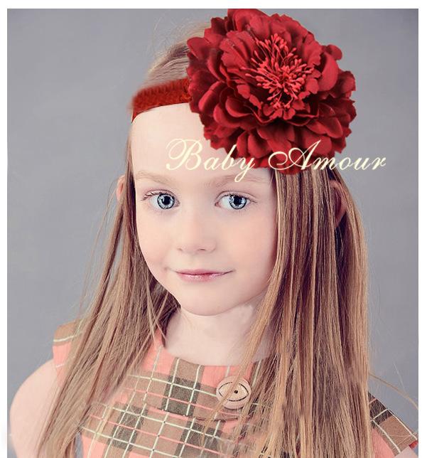 baby girls big flower hair band accessories kids headband Headwear gift - No.02 Store store