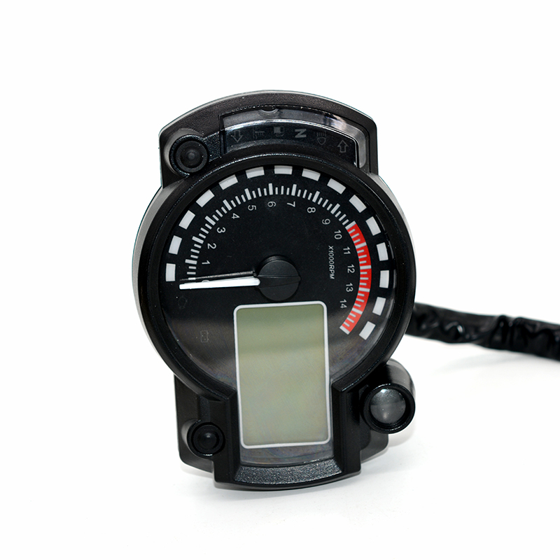 Фотография 182 cars modified dashboard 12V adjustable LCD fuel gauge water temperature gauge public mile mileage 24 cylinders