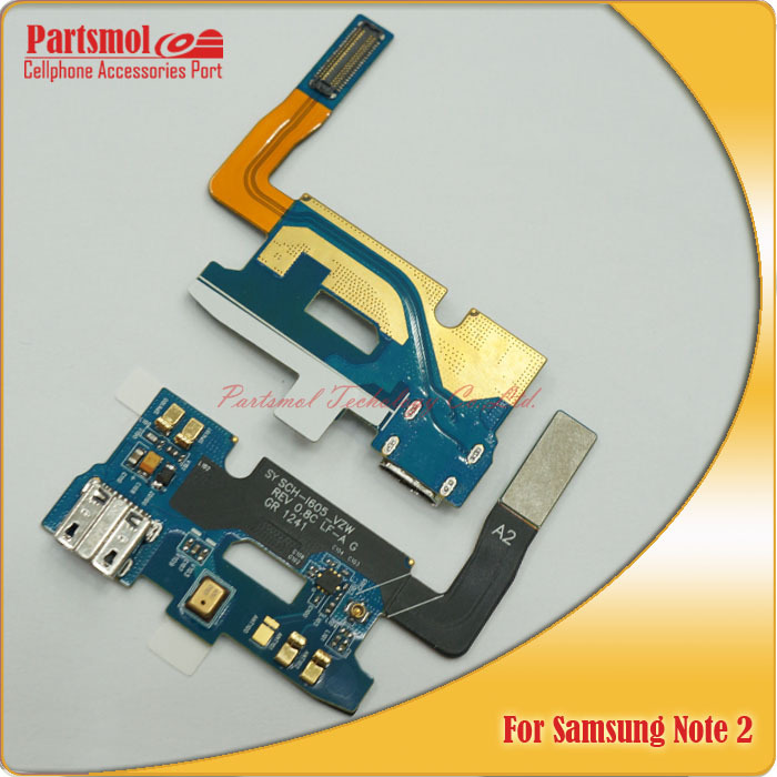 30 pcs lot for samsung galaxy note 2 i605 usb charging dock port connector flex cable parts for