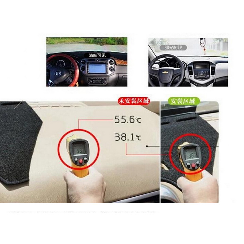 1 pcs DIY car styling New Polyester dashboard blocking protective mats pad cover case for 2014 peugeot 2008 parts accessories<br><br>Aliexpress