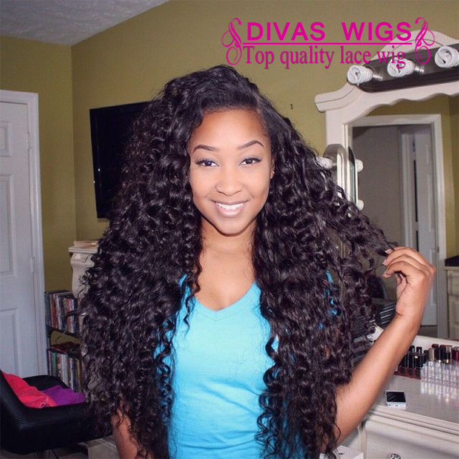 Free Shipping Heat Resistant Fiber Afro Kinky Curly Wig Synthetic Lace Front Wig Long Fluffy Wigs For Black Women<br><br>Aliexpress