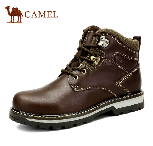 Camel Boots 2014 new winter warm first layer lace short boots men Martin boots genuine(China (Mainland))