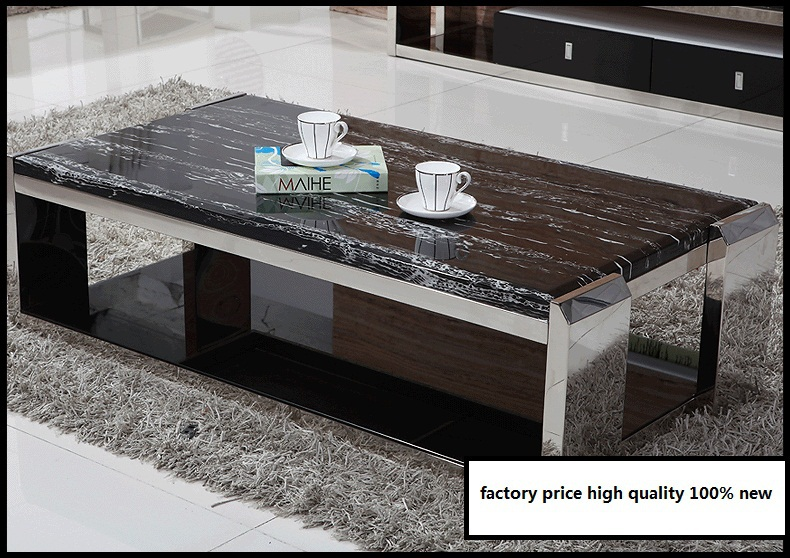 2015 newest modern coffee table for living room coffee table top with marble living room coffee table factory direct shop sale(China (Mainland))