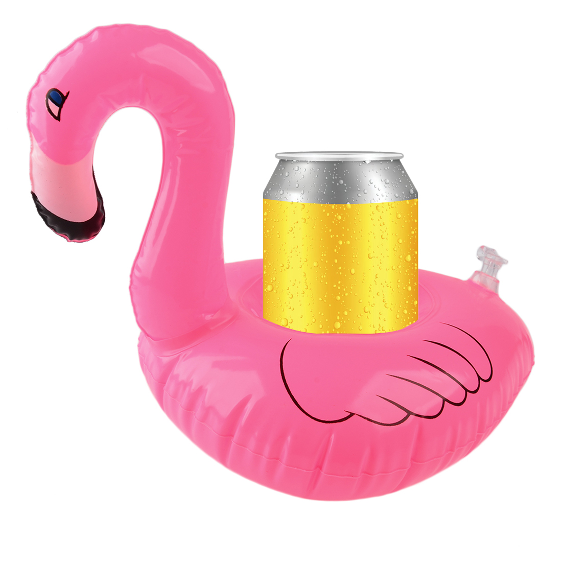 1 Pcs Mini Flamingo Inflatable Water Floating Cell Phone Drink Can Coke Cup Holder Stand Station Swimming Bath Pool Toy(China (Mainland))