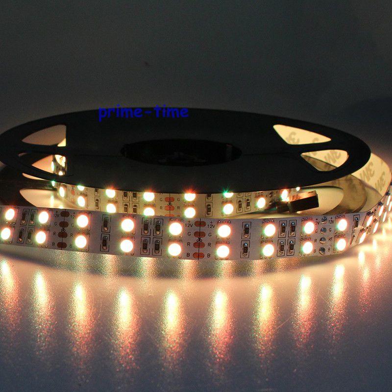 Super Bright Double Row 5050 SMD 600 LED Strip DC12V non-waterproof Flexible Light 120 leds/m,5m/lot White Warm White RGB(China (Mainland))