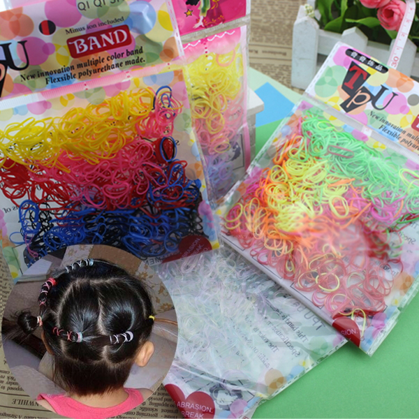 260Pcs New Children Ponytail Hair Accessories Small Disposable Rubber Hair Band 88 FS99