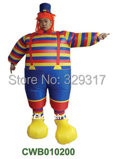 Halloween costume inflatable adult costumes christmas clown party clothing(China (Mainland))