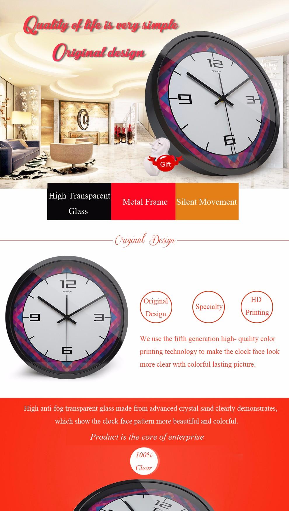 Airinou Original design The large diamond art clock