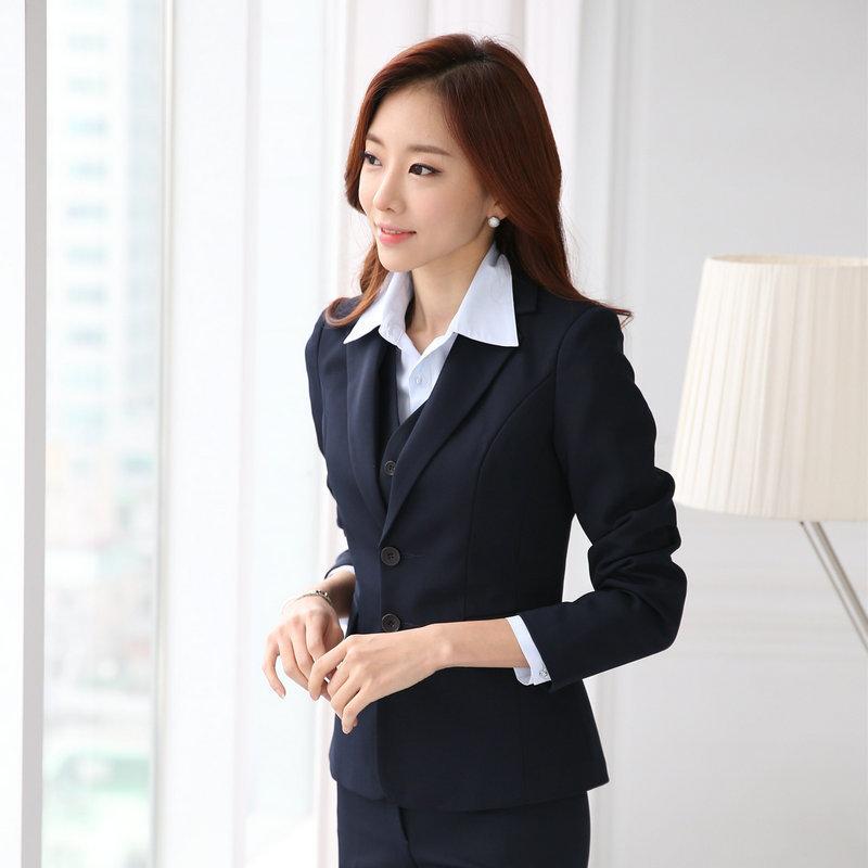 Popular Women 3 Piece Office Suit-Buy Cheap Women 3 Piece Office
