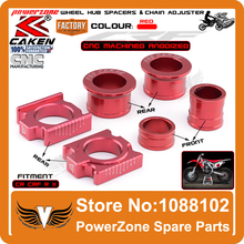 CNC Front & Rear Wheel Hub Spacers & Rear Axle Blocks Chain Adjuster Fit CR125R CR250R CRF250R X CRF450R X Supermoto Motorcycle(China (Mainland))