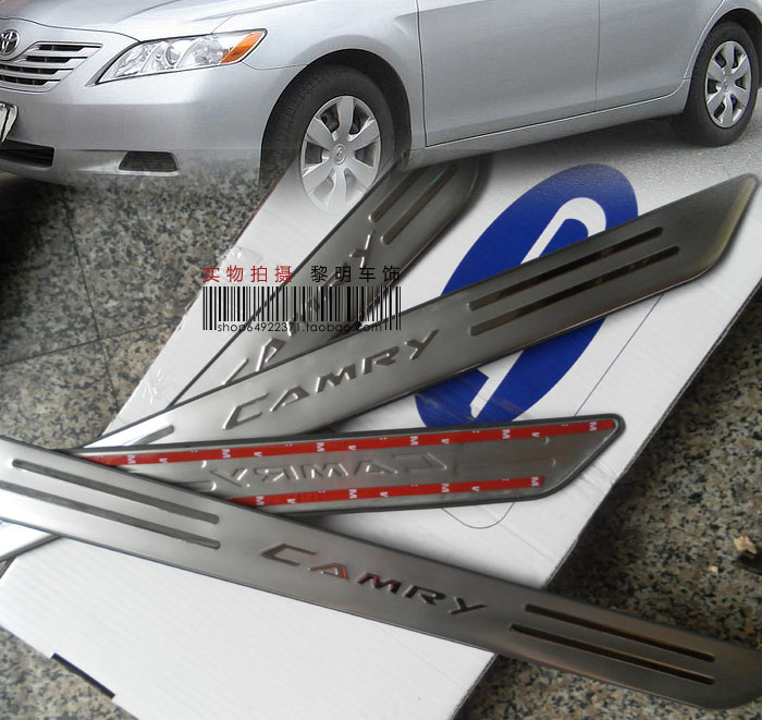 ACCESSORIES FIT FOR 2007 2008 2009 2010 2011 TOYOTA CAMRY STAINLESS DOOR SCUFF SILL SILLS PANEL STEP PLATES(China (Mainland))