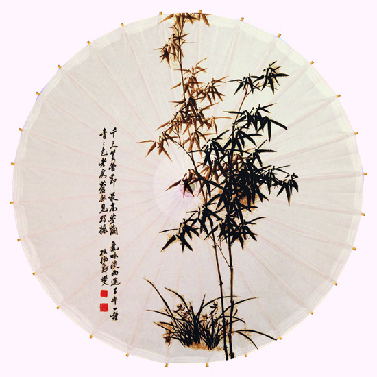 Free Shipping Ink Painting Of Bamboo Calligraphy Words