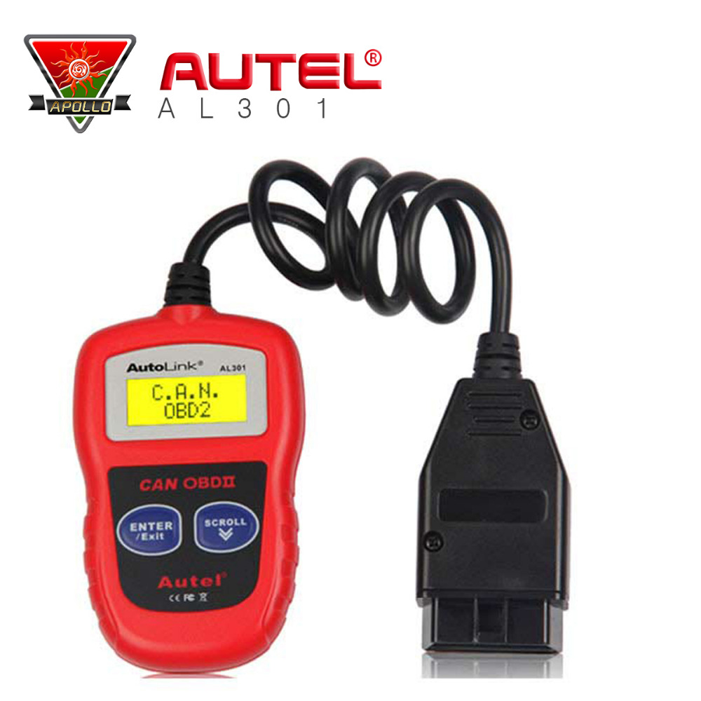 2016 Original Autel AutoLink AL301 OBDII/CAN Code Reader Read and Clear Diagnostic Trouble Codes (DTCs) DIY code reader AL301(China (Mainland))