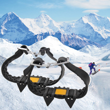 Steel Anti Slip Snow Ice Climbing Spikes Grips Crampon Cleats 5-Stud Shoes Cover Non-slip Snow Ice Cleat Crampons Overshoes(China (Mainland))