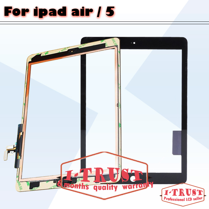 Hot Sale Touch Glass Screen Digitizer for iPad air iPad 5 Front assembly Replacement(China (Mainland))