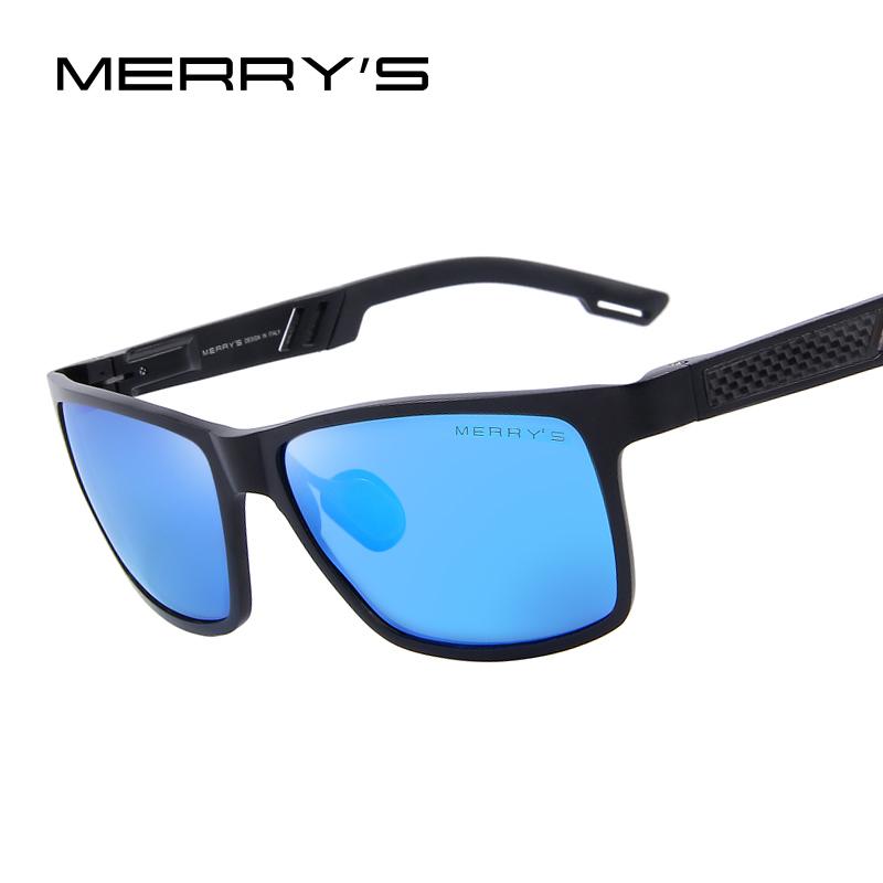 MERRY'S Men Polarized Sunglasses Aluminum Magnesium Sun Glasses Driving Glasses Rectangle Shades S'8571(China (Mainland))
