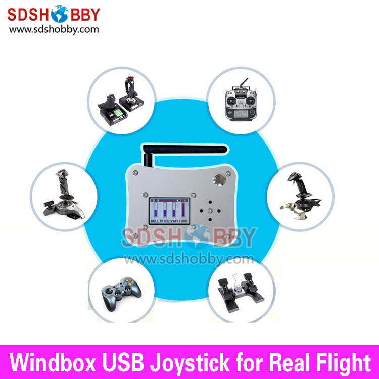 Windbox USB Flight Joystick Ground Station Remote Control System for RC Models(China (Mainland))