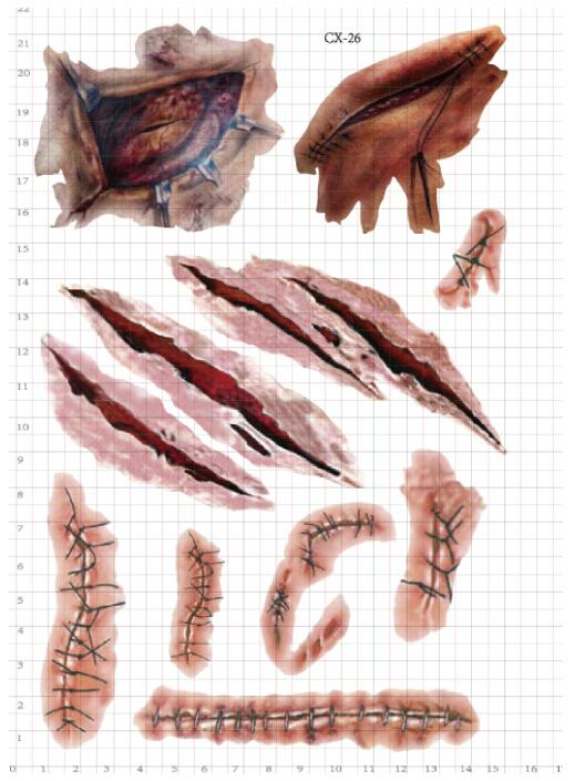 Buy 3pcs lot tatuagem fake wound for Fake wound tattoos