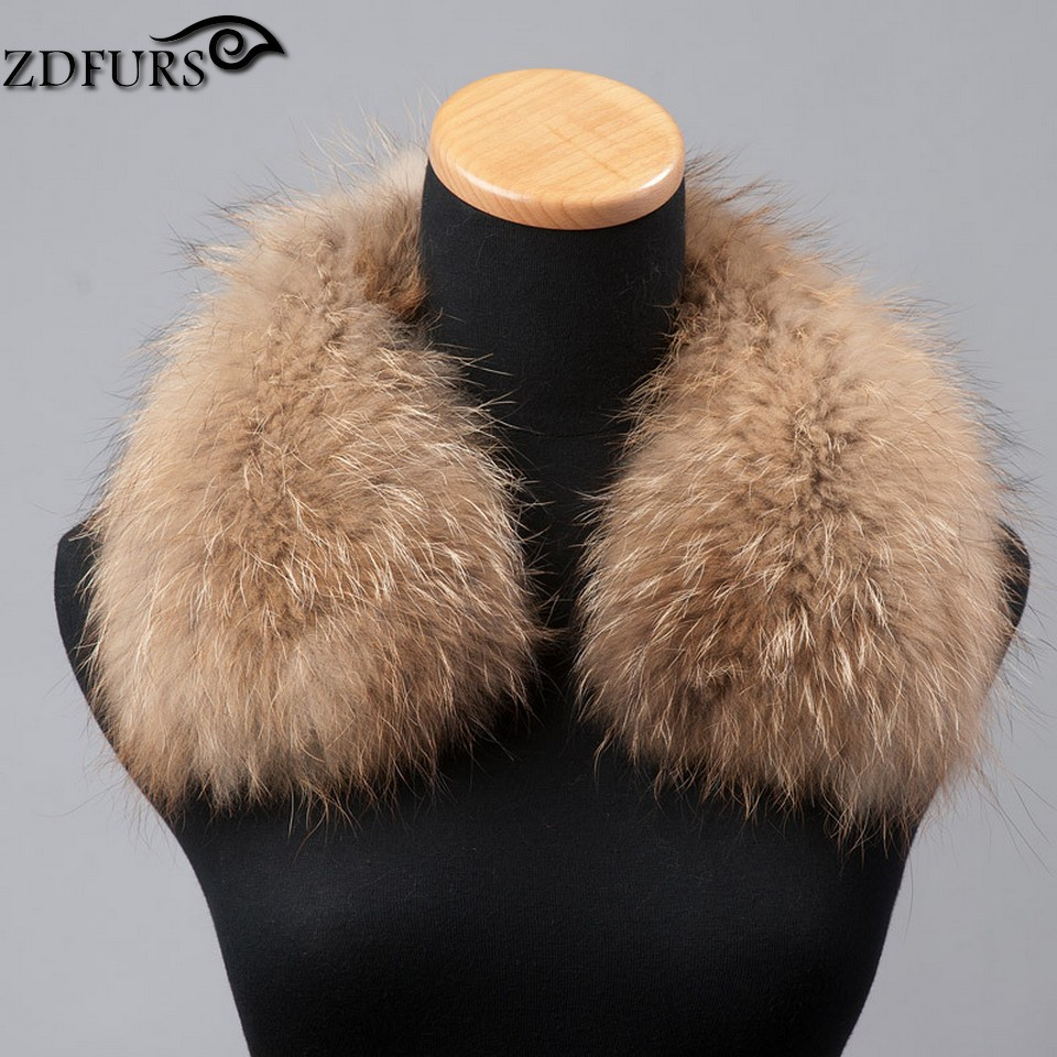 2016 Winter 100% Real Raccoon Fur Collar Whole Skin Fur Scarf Women Fashion Fur Stole Square Collar Fits for Wool Jackets(China (Mainland))