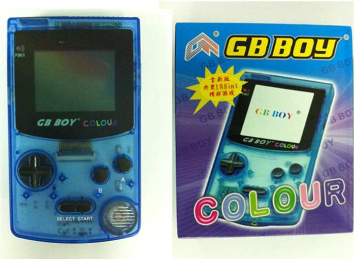 "2.7"" kong feng GB BOY Classic color colour Handheld Game console with backlut boy game player support pokemon, zelda, GBC Games"
