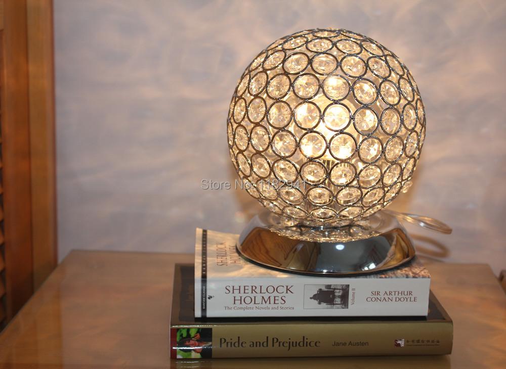 Free shipping hot salling Diameter 150mm Modern K9 Crystal table lamps Bedside lamp for bedroom bar living room E27 110-240V<br><br>Aliexpress