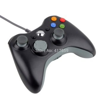 1pc USB Wired Joypad Gamepad Controller For Microsoft for Xbox Slim 360 for PC for Windows7 Black Color Joystick Game Controller