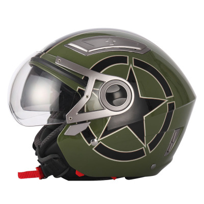 New Arrival American Captain Pilots Enhanced Dual Lens Motorcycle Helmet mens and womens Capacete Motorcycle Cascos Para Moto <br><br>Aliexpress