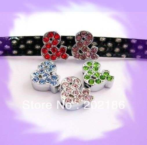 10pcs 10mm mix color *&* Slide Charms Fit Pet Dog Cat Tag Collar Wristband