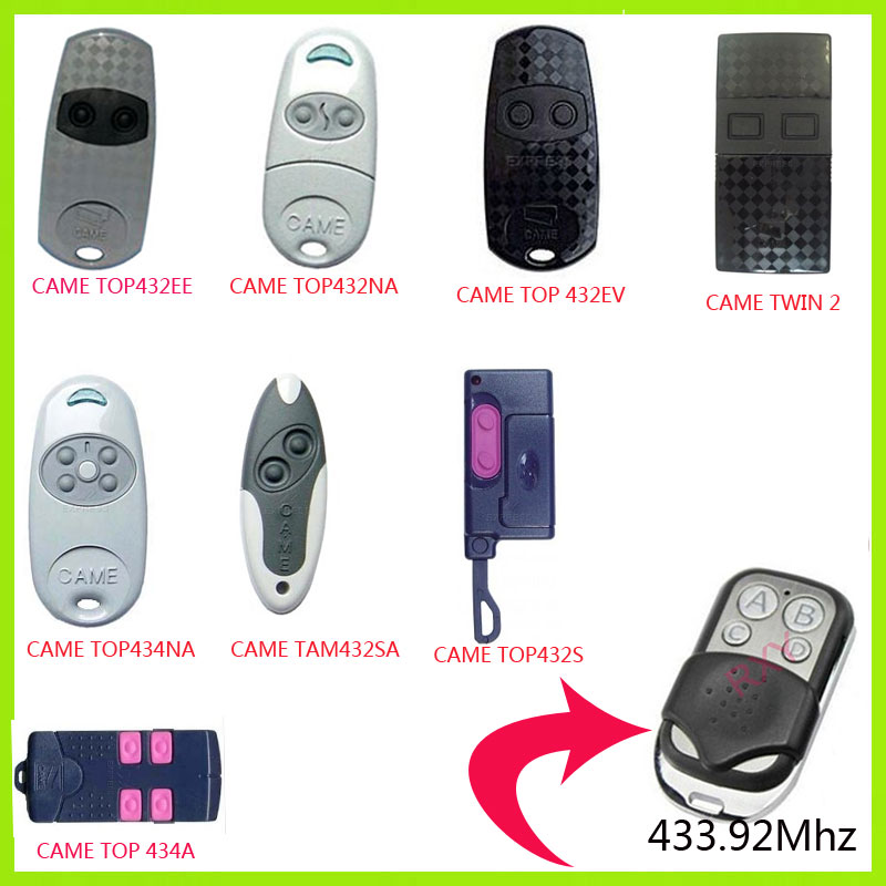 high quality duplicator 433.92mhz CAME Garage gate remote control with battery(China (Mainland))