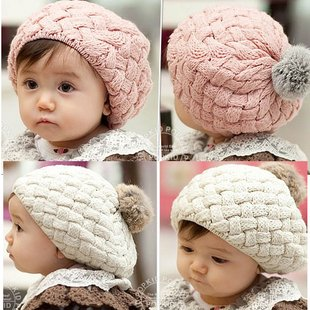Hot Sell 1 Piece 2016 New Autumn Winter Baby Hat Bonnet Style Kid Crochet Cap Lovely Infant's Headwear(China (Mainland))