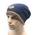 2016 ski Beanies of head cap season with velvet increasing outdoor Knitted winter hat men women General