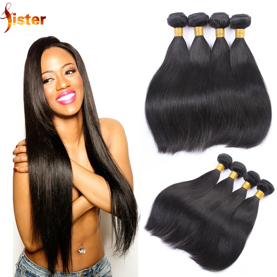 Cheap Straight Human Hair Bundles 4pcs Lot Virgin Brazilian Straight Hair Weave Bundles Brazilian Straight Human Hair Bundles
