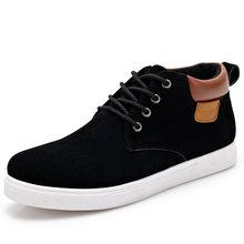 2016 Men Shoes High Top Lace Up Men Casual Shoes Flats Comfortable Black Shoes Men Zapatos Hombres(China (Mainland))