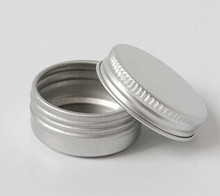50PCS 10g/ml Empty Aluminum Jars Refillable Cosmetic Bottle Ointment Cream Sample Packaging Containers Screw Cap(China (Mainland))