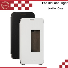UleFone Tiger Flip Case Window View Original Screen Protector Leather Case Cover Replacement For UleFone Tiger Mobile Phone(China (Mainland))