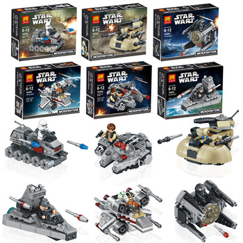 6pcs/set 78085 Star Wars warships spaceship clone wars star wars troopers ships Building Blocks Compatible with Lego toys