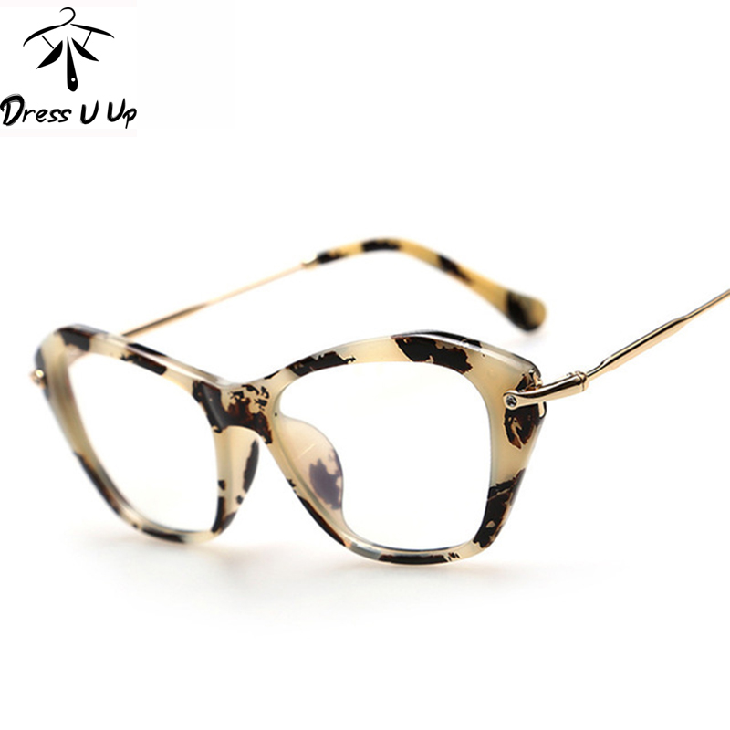 DRESSUUP New Fashion Frame Glasses Women Cat Eye Glasses ...
