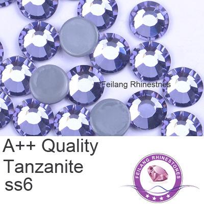 A++ hotfix flat back rhinestones ss6 tanzanite purple nice color 10 gross per bag(China (Mainland))