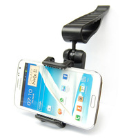 Hot Sale Universal Car Sun Visor Mount Holder Stand For Iphone 6 5S 5 For Samsung Galaxy S3 S4 Note 2 For HTC GPS For LG  Tea