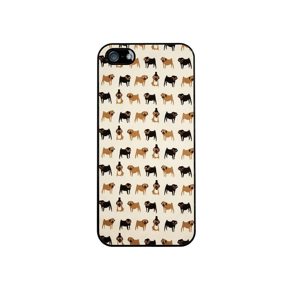 Pug Pattern Cute Girly Dog Cell Phones Cover Case for iPhone 4 4S 5 5S 5C 6 6Plus iPod Touch 5 Case(China (Mainland))