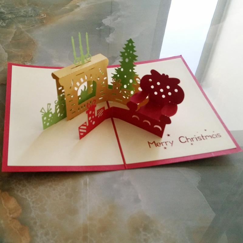 unidslote d chimenea de navidad tarjeta de felicitacin de navidad tarjeta