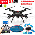 Free shipping Syma X5SW Wifi FPV 2 4Ghz 4CH RC Quadcopter Drone 6x1200mAh Battery 1v6 Charger