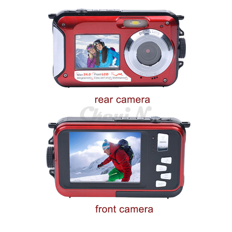 New Fantastic Double Screen 16X Zoom 1920x1080 HD Digital Camera 2.7' TFT Smile Capture Anti-shake Video Camcorder DVR50_940(China (Mainland))