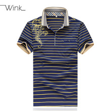 Men Polo Shirts Lapel Mercerized Cotton Brand New Summer Brand Man Tees Stripe Homme Breathable Blouse Fashion Big Size 5XL S023