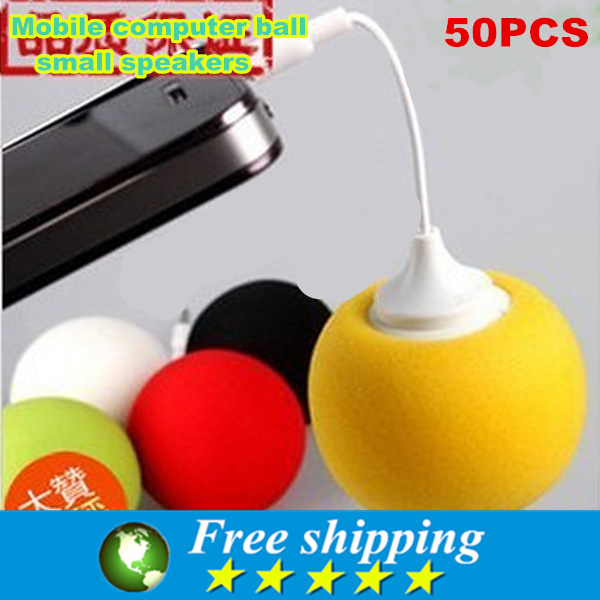 Portable good quality mobile phone 3 5 mm ball small speakers computer music speakers speakers consumer