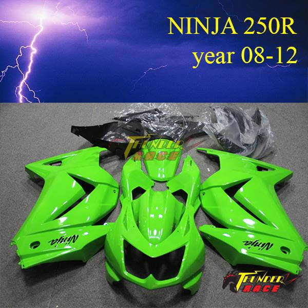 High performance ABS Race Motorcycle Fairing Kits ninja for KAWASAKI Ninja250R 2008 2009 2010 2011 2012(China (Mainland))