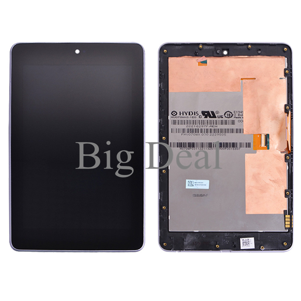 WIFI Version LCD Display +Touch Digitizer with FRAME For ASUS Google Nexus7 Nexus 7 1st Gen ME370T LCD Assembly 100% Working