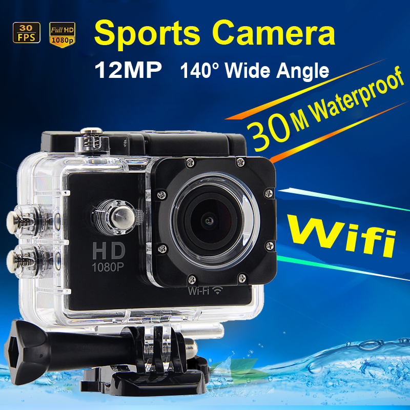 WiFi Waterproof Sports Camera 1080P Full HD 12MP Wireless Diving Mini DV Cam Camcorder Action Video Recorder W7(China (Mainland))