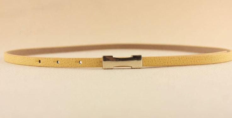 0051 נשים גבירותיי אופנה רזה רזה מתכת זהב אבזם חגורה דמוי עור חגורה חדשה