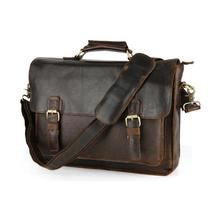 men's genuine leather briefcases male Vintage crazy horse leather business shoulder bags large handbag  messenger bag travel bag(China (Mainland))